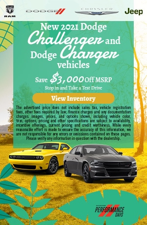 New 2021 Dodge Challenger and Dodge Charger vehicles
