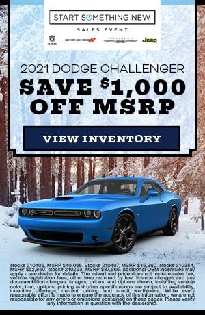 January 2021 Dodge Challenger Offer