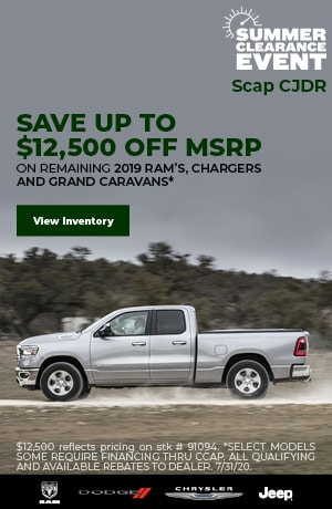 July's SAVE UP TO $12,500 OFF MSRP Offer