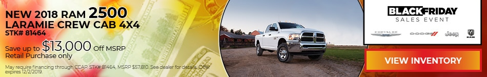 November New 2018 Ram 2500 Laramie Crew Cab 4x4 Offer