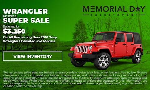 May Wrangler Unlimited Super Sale