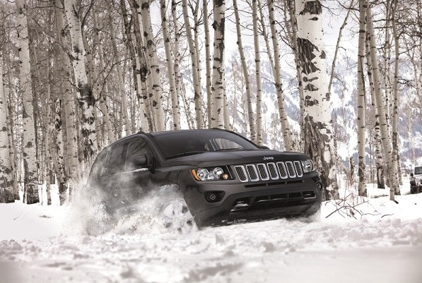 Four Wheel Drive Jeep in snow