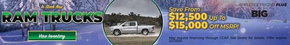 December In Stock New Ram Trucks Cash Offer