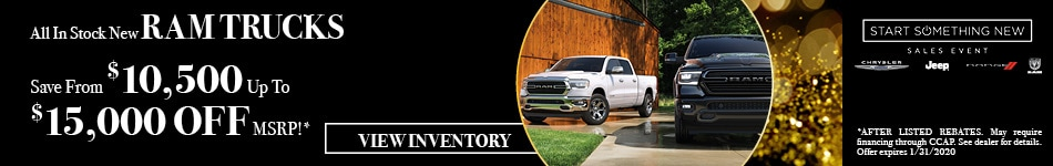 January All In Stock New Ram Trucks Offer