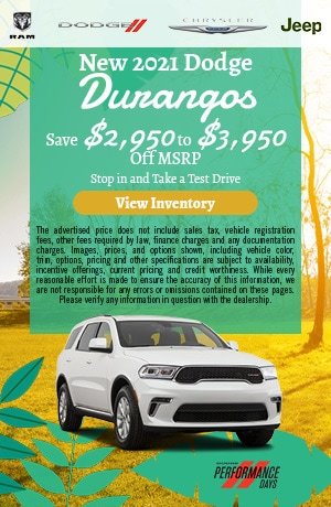 New 2021 Dodge Durangos