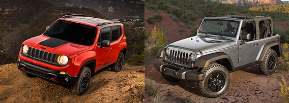 Jeep Wrangler Renegade >> Jeep Renegade Vs Jeep Wrangler Comparison