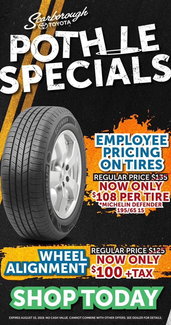 Service Department Specials at Scarborough Toyota