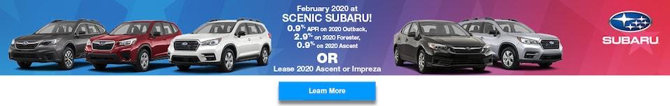 February 2020 at Scenic Subaru!