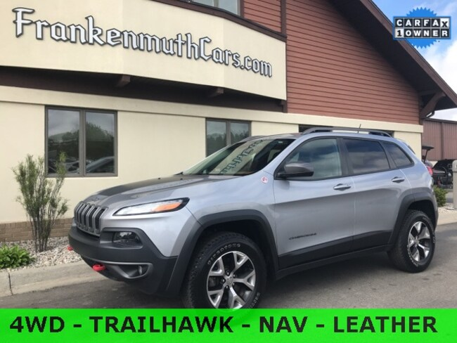 Used 2014 Jeep Cherokee Trailhawk SUV 1C4PJMBB3EW145653 Frankenmuth