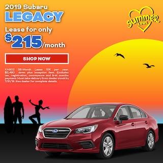 2019 Subaru Legacy July Offer