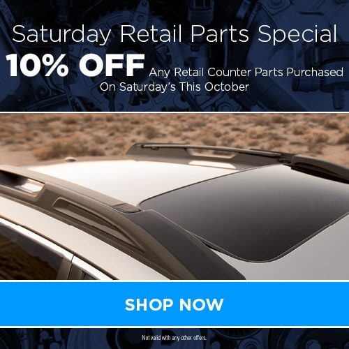 Saturday Retail Parts Special