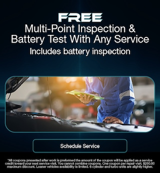 Free Multi-Point Inspection & Battery Test With Any Service