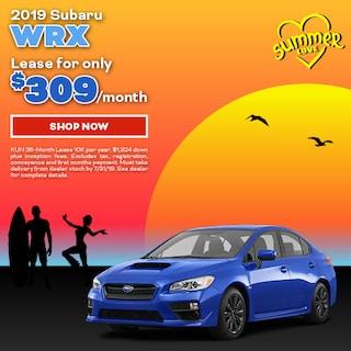 2019 Subaru WRX July Offer