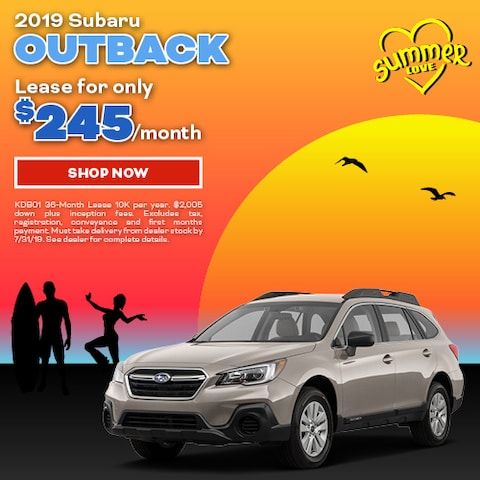 2019 Subaru Outback July Offer