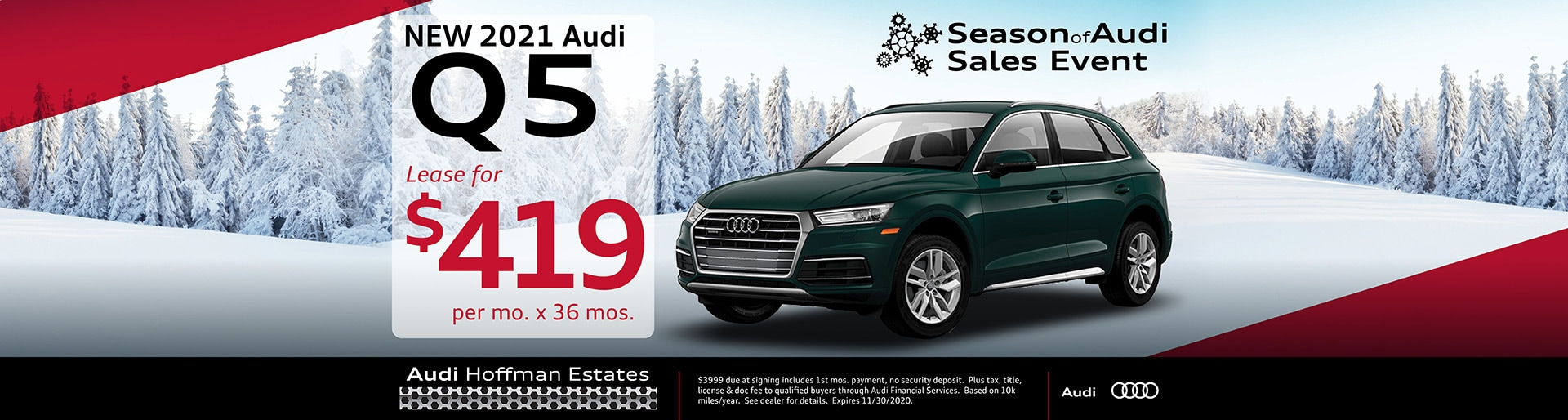2021 Audi Q5 lease offer, $419/mo for 36 months | Hoffman Estates, IL