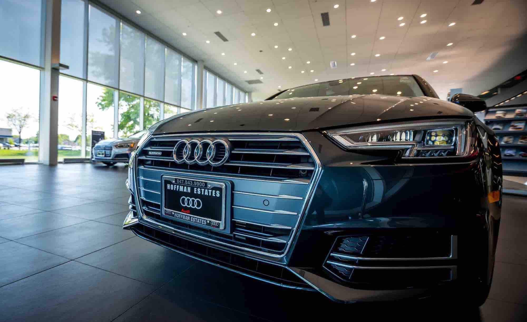 Audi Hoffman Estates Showroom and Interior