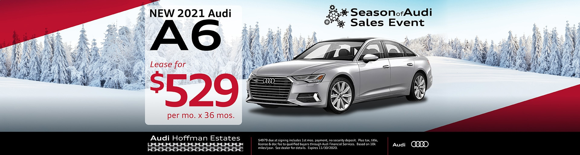 2021 Audi A6 lease offer, $529/mo for 36 months | Hoffman Estates, IL
