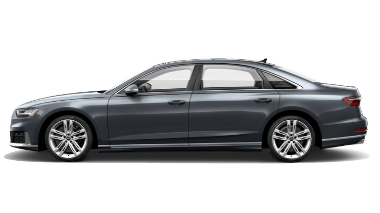 2020 Audi A8 side view