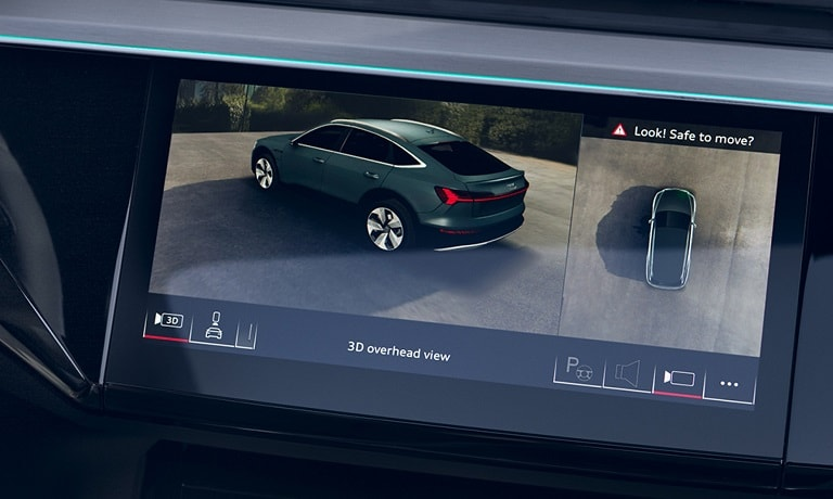 2020 Audi e-tron Sportback safety and infotainment system