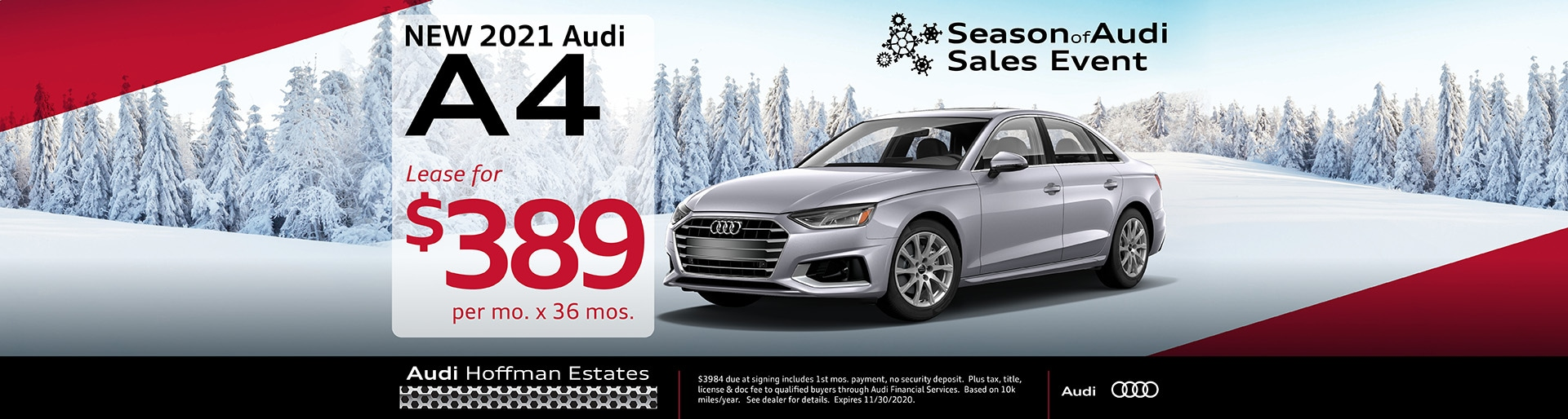 2021 Audi A4 lease offer, $389/mo for 36 months | Hoffman Estates, IL