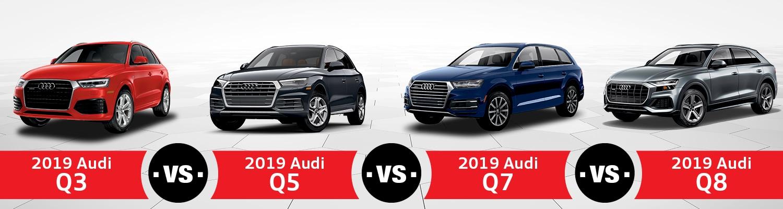 2019 Audi Q7 Changes, Specs And Price >> Compare 2019 Audi Q3 Vs Q5 Vs Q7 Vs Q8 Audi Hoffman Estates