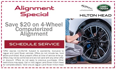 Save $20 on 4-Wheel Computerized Alignment