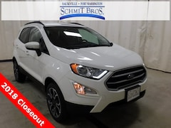 New 2018 Ford EcoSport SE SUV MAJ6P1UL9JC249662 for sale in Saukville, WI at Schmit Bros. Auto