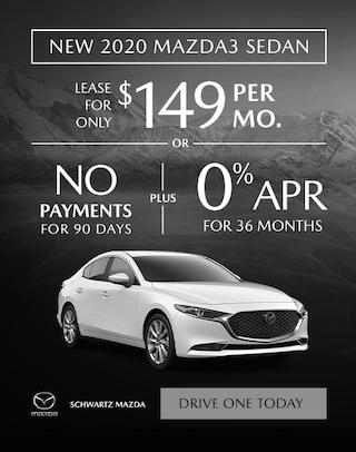 2020 Mazda3 Sedan $149/mo