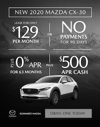 2020 Mazda CX-30 $129/mo