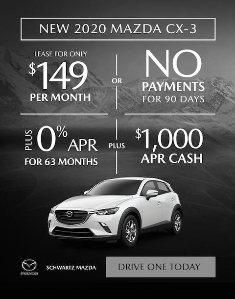 New 2020 Mazda CX-3 $149