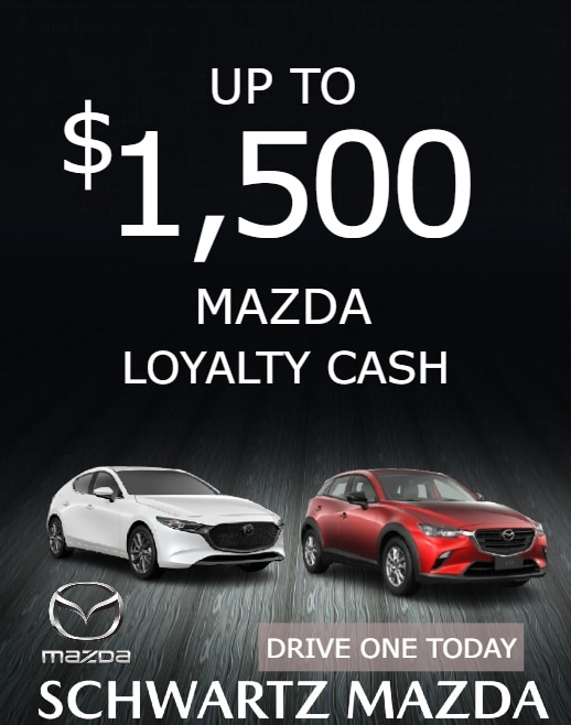 Mazda Owner Loyalty Rebate Up to $1,500