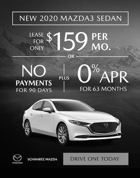 2020 Mazda3 Sedan $159/mo