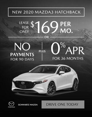 2020 Mazda3 Hatchback $169/mo