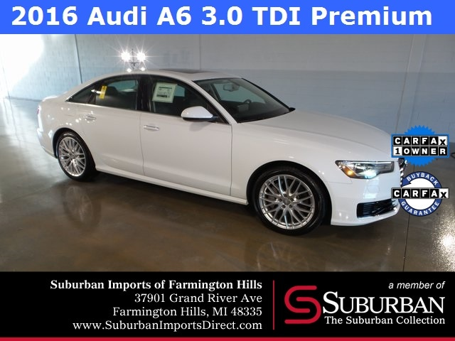 Pre-Owned 2016 Audi A6 3.0 TDI Premium Plus Sedan Farmington Hills, MI