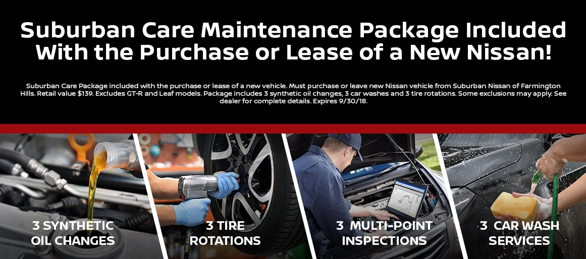 Suburban Care Car Maintenance Package