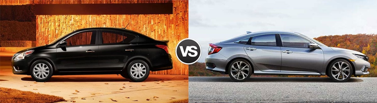 2019 Nissan Versa vs 2019 Honda Civic