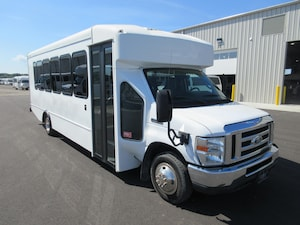 2015 FORD E450 Turtle Top - 25 Passenger + Driver w/DRL and Overhead Luggage