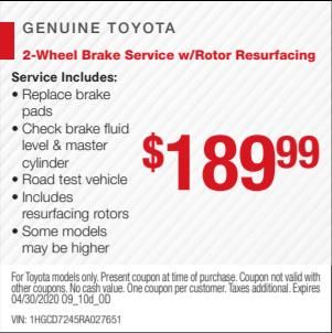 Brake and Rotors