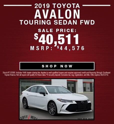 2019 Toyota Avalon Touring Sedan FWD