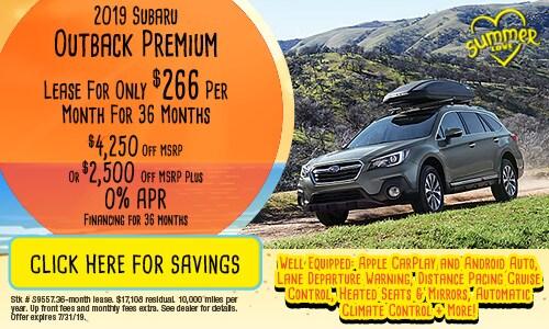 2019 Subaru Outback Premium - July