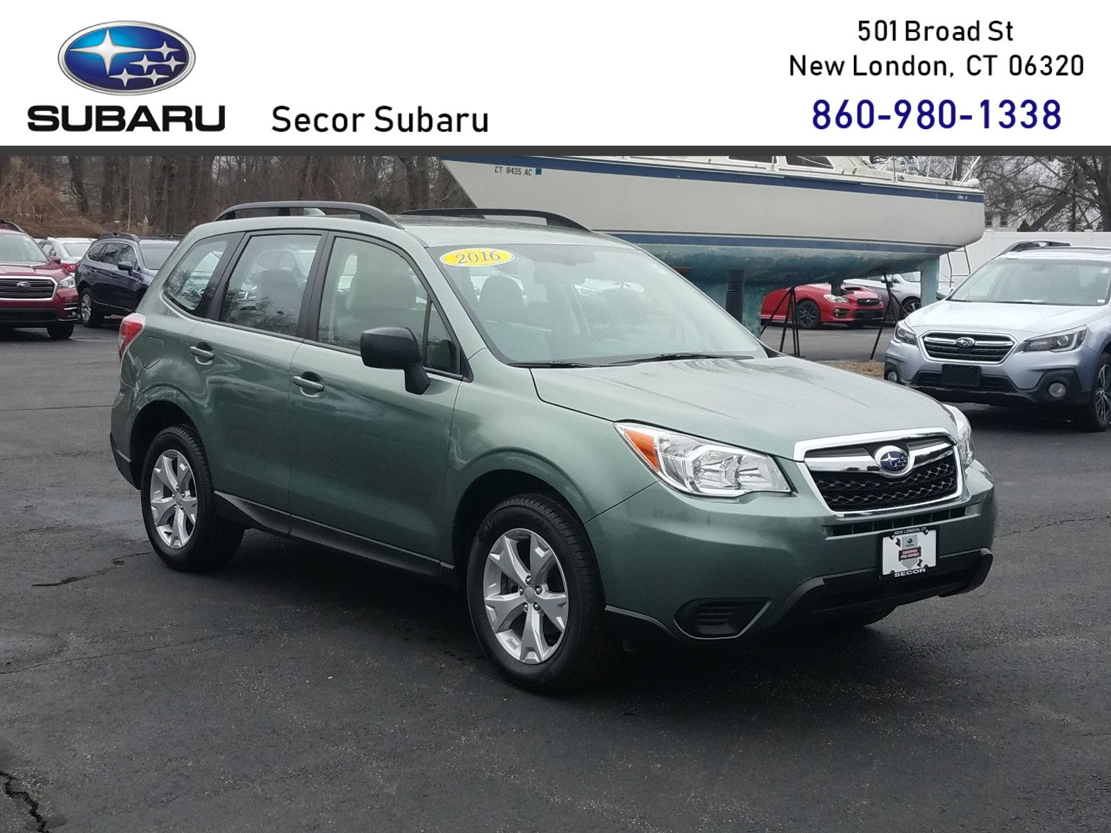 2016 Used Subaru Forester 2 5i For Sale New London CT Vin: JF2SJABC9GH462671