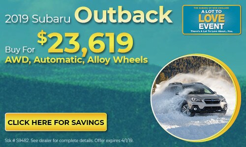 2019 Subaru Outback - March Buy For