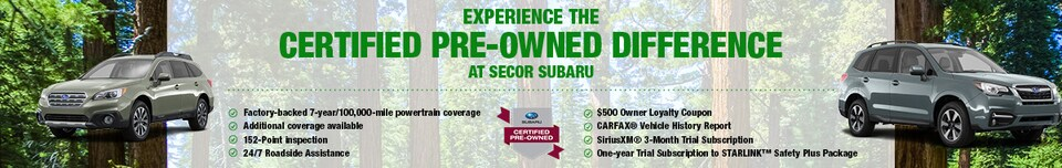Experience the Certified Pre-Owned Difference At Secor Subaru