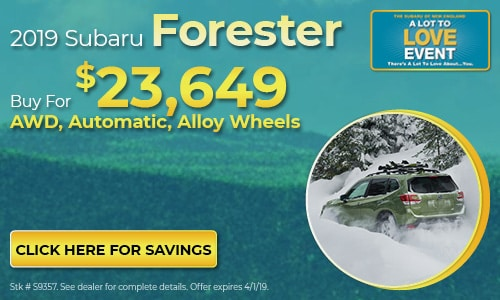 2019 Subaru Forester - March Buy For