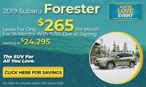 2019 Subaru Forester - March Lease Offer