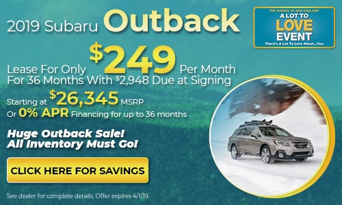 2019 Subaru Outback - March Lease Offer