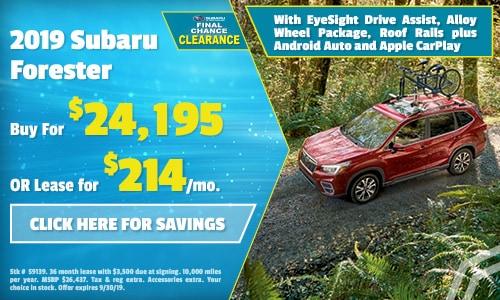2019 Subaru Forester - September