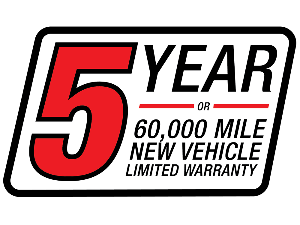 5 Yr/60,000 New Vehicle Limited Warranty
