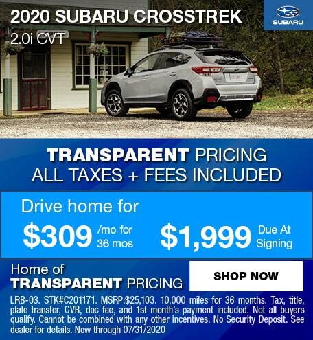 2020 Subaru Crosstrek July Offer