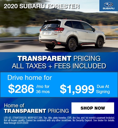 2020 Subaru Forester Lease